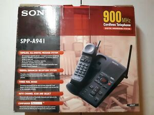NEW Sony SPP-A941 Digital 900MHZ Cordless Phone & Ans. Machine w/ Box & Manual