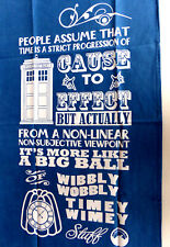 DOCTOR WHO  PACK OF 2 SUPERIOR 100% COTTON TEA TOWELS TOP QUALITY  SALE  5% OFF
