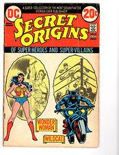 Secret Origins #3 (8/73) VG (4.0) Origin of Wonder Woman! Great Bronze Age!