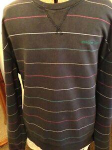 mens HENRI LLOYD sweat shirt navy stripe size xxl 46 chest