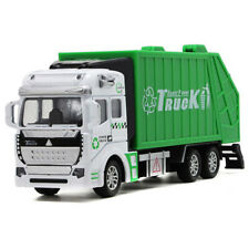 1/48 Garbage Truck with Trash Bin Model Car Diecast Toy Vehicle Pull Back Green