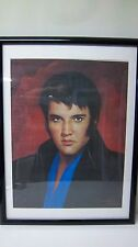 Elvis Portrait Painting On Canvas Print Signed By Lawrence Williams