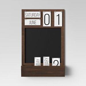 "THRESHOLD Chalk Calendar | 22"" x 14"" | Brown | 🆕"