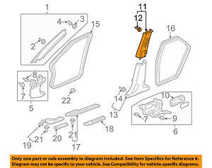 Acura HONDA OEM 04-08 TSX Interior-Upper Center Pillar Trim Left 84161SEAN82ZA