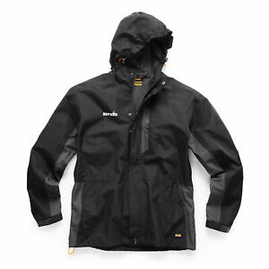Scruffs T54856 Worker Jacket Black and Graphite Small Waterproof Lightweight