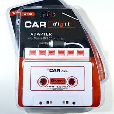 Car Digit W800 Car Audio Cassette Adapter for Mobile-Mp3-Cd in Your Car New