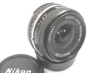 Nikon AIS 28mm f2.8 Series E Prime Wide Angle Lens, Excellent clear optics, caps
