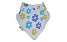 New Funky Giraffe Baby Toddler Girls Bandana Dribble Bib Purple Yellow Flowers