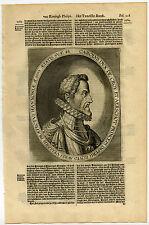 Antique Print-CHARLES III DE CROY-DUKE AARSCHOT-PRINCE CHIMAY-Van Meteren-1614