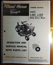 Wheel Horse L-107 L-157 Lawn Ranger Riding Mower Tractor Owner Operator Manual