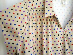 BLUEPRINT Vintage new 80s Womens Snap Button Floral Pattern Shirt Blouse