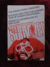 SURVIVE! (1976) Original Cinema Exhibitors Campaign Press Book Rene Cardona Jr