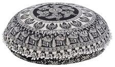 "Mandala Floor Round Cushion Cover 32"" Boho Decorative Cotton Throw Pillow Cases"
