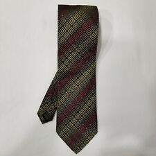 "GIORGIO BRUTINI Mens Neck Tie 100% Silk RED BLACK YELLOWWIDTH 3.75"" LENGHT 58"" A"