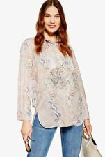 Ex TOPSHOP Snake Print Maternity Blouse Brown UK 8 US 4 EUR 36 (TS25-14)