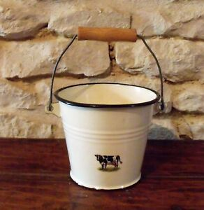 Enamel Bucket Cow (French)