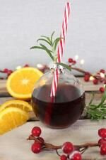 Christmas Bauble Drinking Glass with straw - a unique holiday gift item
