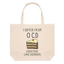 I Suffer de OBSESSIVE gâteau désordre OCD Grand Plage SAC FOURRE-TOUT - DRÔLE