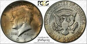 1969-D Silver Kennedy Half Dollar PCGS MS64 Light Yellow Toned Coin