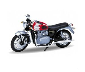 Triumph Bonneville T100 TR19660PW Motorcycle 1/18 Scale Model WELLY 2002 NEW