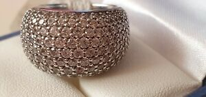 Ti Sento 925 Sterling Silver Cubic Zirconia Statement Ring Size L