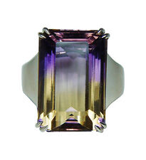 Vintage H Stern 15ct Ametrine Diamond Ring 18K Gold Designer Signed