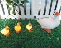 Gardenwize Solar LED Light Garden Yard Duck Ducklings Pond Ornament Statue