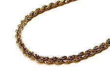 Bijou collier créateur sautoir signé Monet maille torsadée necklace