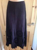 Per Una M&S skirt - size 12 long - purple suede effect