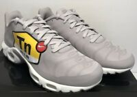 competitive price 488b1 216d3 Nike Mens 10 Air Max Plus TN Tuned Air NS GPX Big Logo Grey Shoes AJ7181