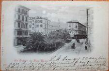 San Remo/Sanremo, Liguria, Italy 1899 Postcard: Street View