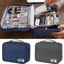 Digital Accessories Organizer Travel Handbag Cable USB Drive Storage Case