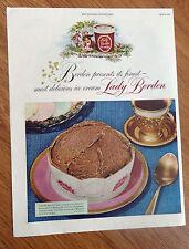 1949  Lady Borden's  Ice Cream Ad  Chocolate