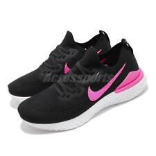 Nike Epic React Flyknit 2 Shoes in Black/black-pink Blast Whit Colour Size10
