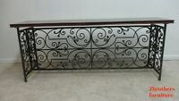 Maitland Smith Wrought Iron French Regency Console Foyer Table Sideboard