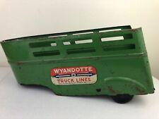 1940's Wyandotte Truck Lines Green Pressed Steel Trailer