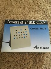 """Crystal Blue """"Powers of 2"""" Bcd & Direct Binary Clock (Silver w/Blue Leds)"""