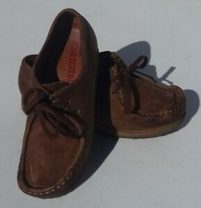 Clarks Wallabees 38257 Brown Leather LaceUp Chukka Crepe Sole Women's Size 6.5M