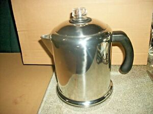 Farberware Replacement Stove Top Coffee Percolator Pot With Lid NO PARTS Q15C