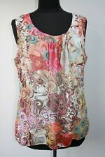 Gharani Strok Stunning Abstract Print Sleeveless Top, BNWOT, Size UK 18