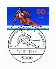 Frg 1978: Downhill Skiing! Sportmarke No. 958 With Bonner Affixed !1A! 1905