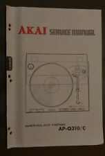 AKAI ap q310 c Service Manual original Repair book record player turntable