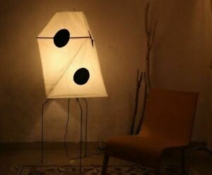 Isamu Noguchi AKARI UF3-Q Lamp Shade Metal Frame Whole Set Stand Light