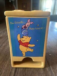 Vintage Disney Winnie The Pooh & Piglet Tea Bag Dispenser Holder Fine China