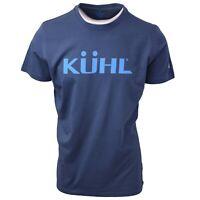 Kuhl Men's Pirate Blue Kuhl Logo born in The Wild S/S T-Shirt (Retail $35)
