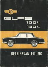 GLAS  1004 1304 Cabrio Betriebsanleitung 1966 Bedienungsanleitung Handbuch BA