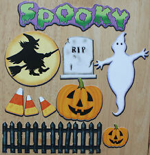 QUICK CROPPER CUTS HALLOWEEN GHOST SPOOKY WITCH CANDY CORN CARDSTOCK DIE CUTS!
