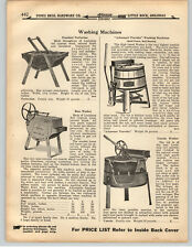1919 PAPER AD Arkansaw Traveler Wooden Washing Machine Hand Power Uneeda Boss