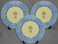 1999 Set (3) Royal Doutlon CARMINA PATTERN Salad Plates LEMON TREE