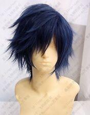 Hot Sell!  New Fashion Dark Blue Short wigs Cosplay Wig   N.042